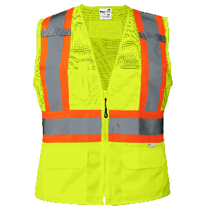 FrogWear® HV Women's Fit High-Visibility Surveyors Safety Vest - GLO-W0037