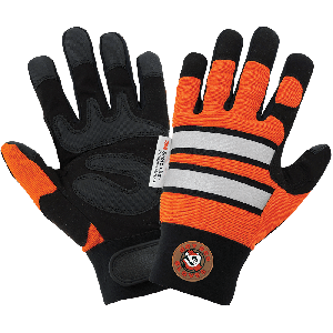 Hot Rod Gloves® High-Visibility Synthetic Leather Palm Performance Mechanics Style Gloves with a Spandex Back - HR9000VIS