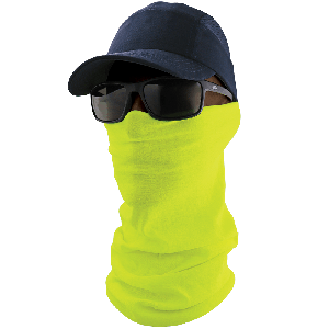 FrogWear™ HV Multi-Function Neck Gaiter, High-Visibility Yellow/Green - NG-201