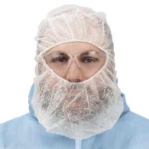 FrogWear™ White Polypropylene Disposable Balaclava-Style Hood - NW-PPBBR-W