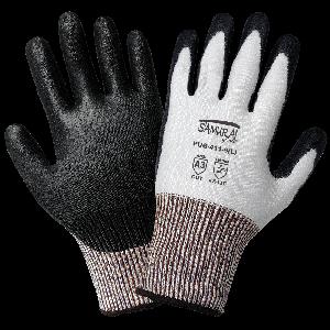 Samurai Glove® White Tuffalene® Polyurethane Coated Palm  Cut Resistant Gloves - PUG-411
