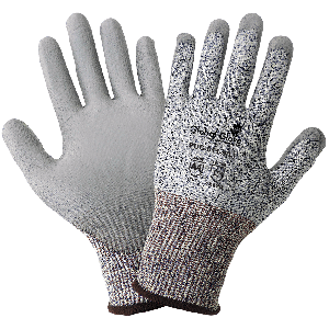 PUG™ Salt-and-Pepper Polyurethane Coated Cut Resistant Gloves - PUG-611