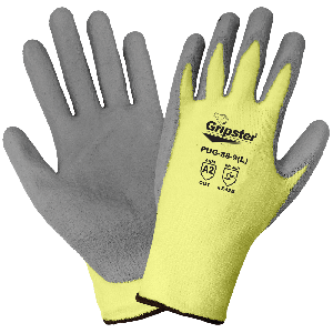 Gripster® Aramid Fiber and Spandex Blend Polyurethane Coated Palm Cut Resistant Gloves - PUG-88