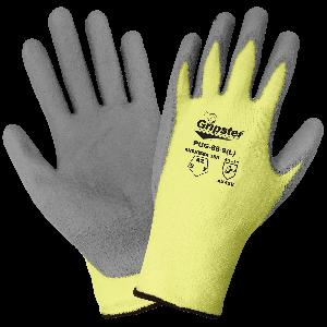 Gripster® Aramid Fiber and Lycra Blend Polyurethane Coated Palm Cut Resistant Gloves - PUG-88