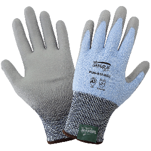 Samurai Glove® Light Blue 18-Gauge Tuffalene® Platinum Polyurethane Coated Cut Resistant Gloves - PUG-918