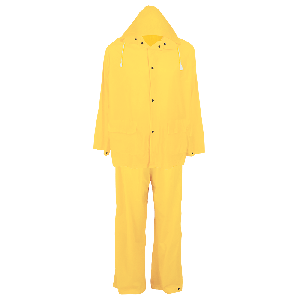 Three-Piece Yellow PVC Rain Suit - RSP810