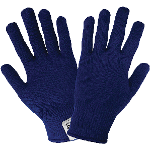 Navy Self-Wicking Hollow Core Thermal Gloves - S13T