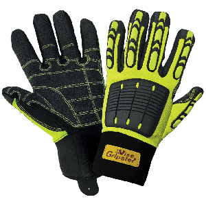 Vise Gripster® High-Visibility Reinforced Abrasion Resistant Gloves with TPU Impact Protection - SG9966