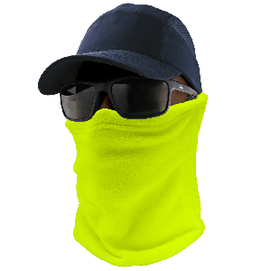 Bullhead Safety™ Winter Liners High-Visibility Yellow/Green Thermal Neck Gaiter - WL300-YG