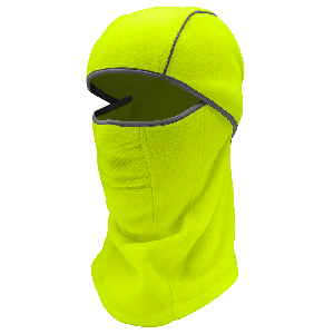 Bullhead Safety™ Winter Liners High-Visibility Yellow/Green, Shoulder-Length, Multifunctional, Hinged Thermal Balaclava - WL310-YG