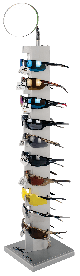 Bullhead Safety® Eyewear 10-Piece Locking Countertop Display - BHDL10