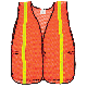 FrogWear® HV High-Visibility Orange Economy Mesh Safety Vest with Reflective - GLO-10-O-1IN