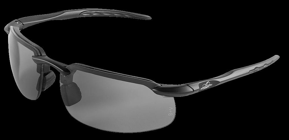 Swordfish® Variable Tint Anti-Fog Polarized Lens, Matte Black Frame Safety Glasses - BH1061213AF