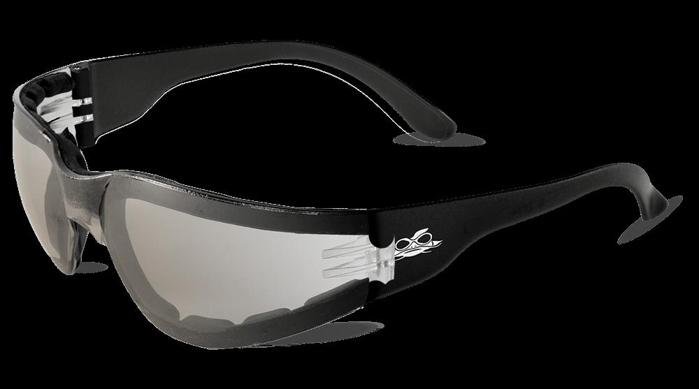 Torrent™ Foam-Lined Indoor/Outdoor Anti-Fog Lens, Crystal Black Frame Safety Glasses - BH13156AF