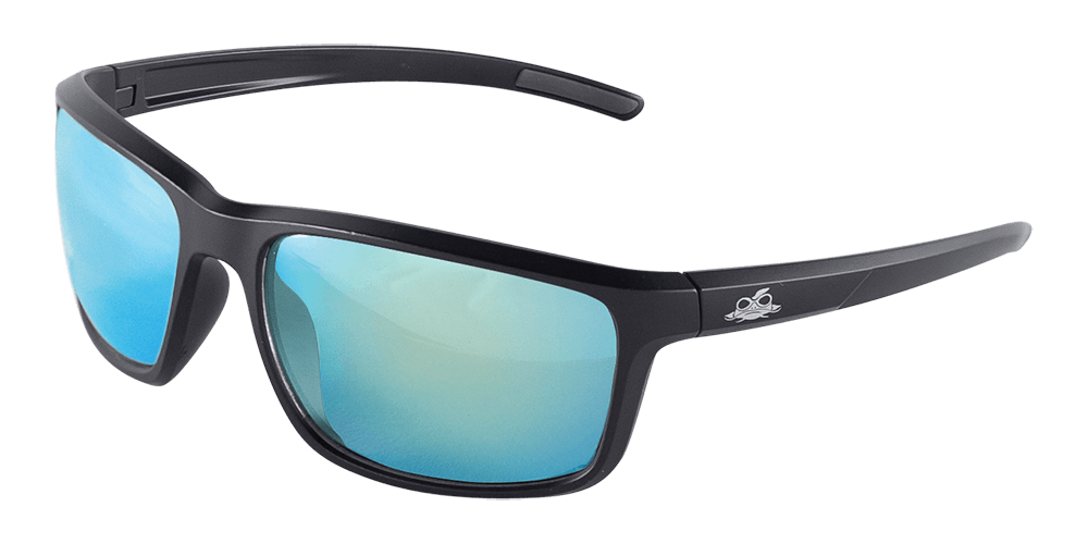 BH2769 - Pompano™ Ice Blue Mirror Performance Fog Technology Polarized Lens, Matte Black Frame Safety Glasses