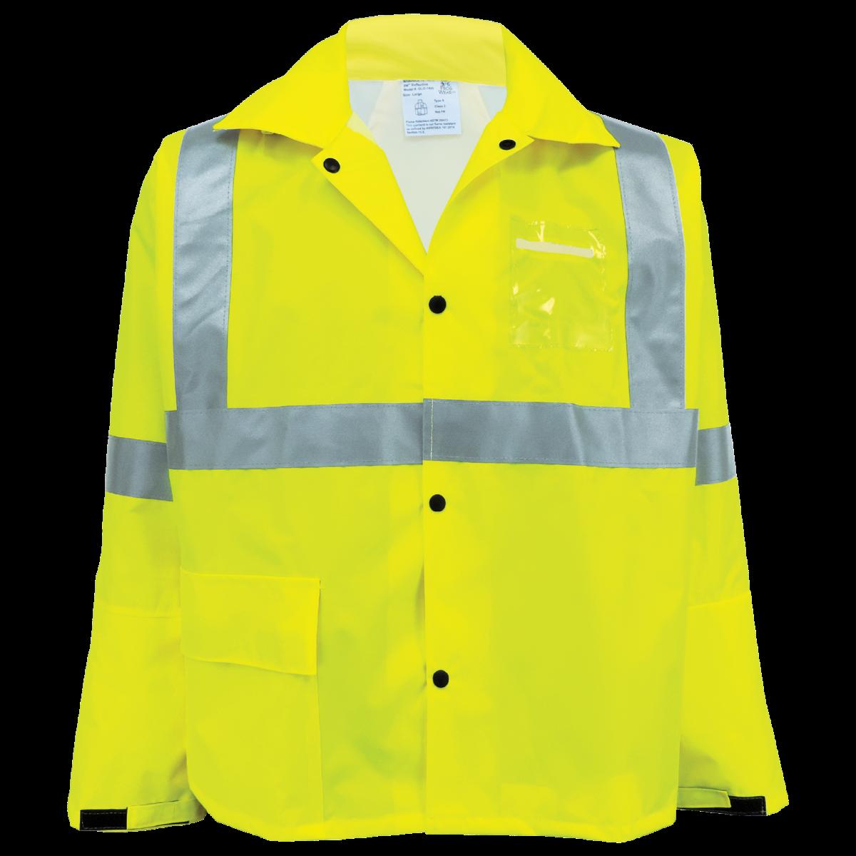 GLO-1400 - FrogWear HV - High-Visibility Yellow/Green Rain Jacket