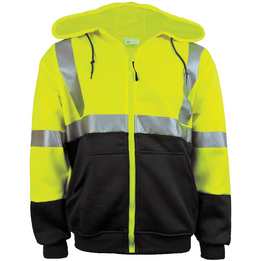 GLO-HS2 - FrogWear HV - High-Visibility Hooded Sweatshirt
