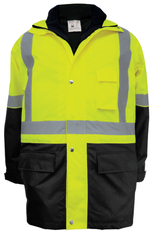 GLO-P2 - FrogWear HV - High-Visibility Three-In-One Winter Parka Jacket