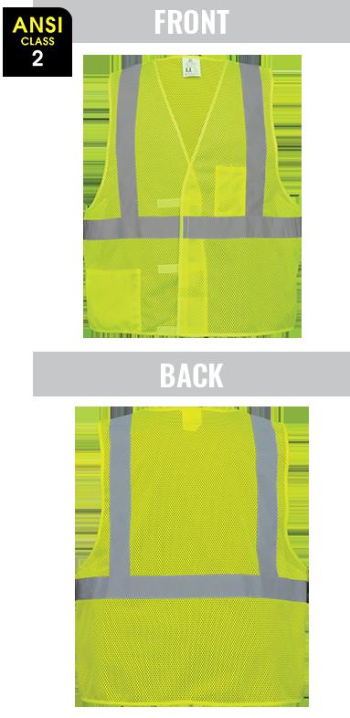 GLO-001V - FrogWear® HV - High-Visibility Lightweight Mesh Polyester Safety Vest