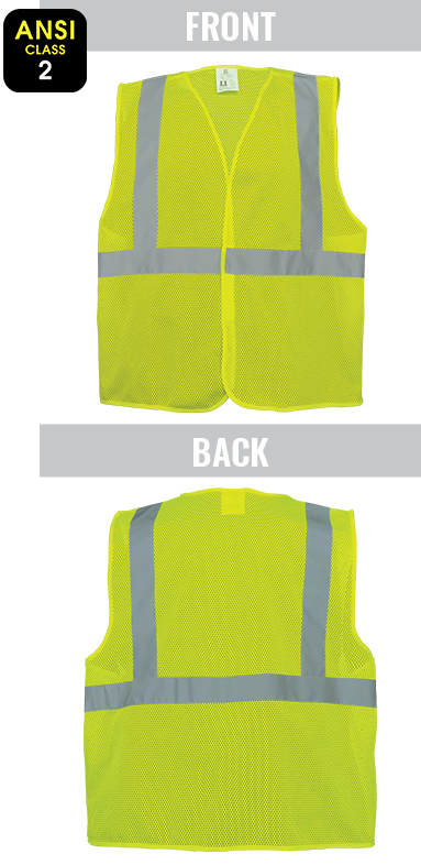 GLO-001VE - FrogWear® HV - High-Visibility Lightweight Mesh Polyester Safety Vest