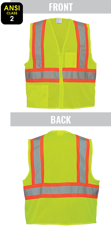 GLO-002 - FrogWear® HV - High-Visibility Lightweight Mesh Polyester Safety Vest
