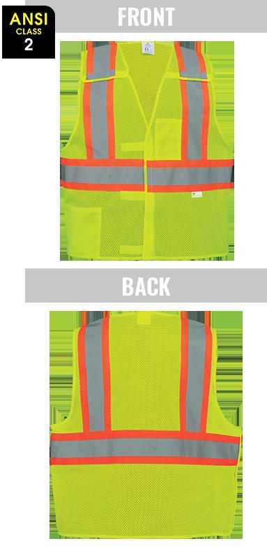GLO-002BA - FrogWear® HV - High-Visibility Polyester Breakaway Safety Vest