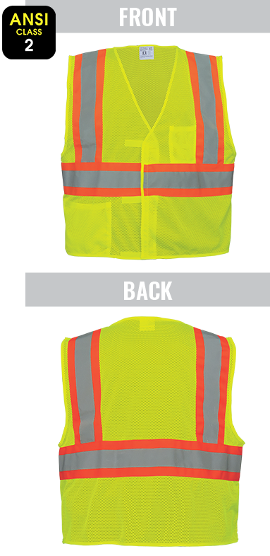 GLO-002V - FrogWear® HV - High-Visibility Lightweight Mesh Polyester Safety Vest