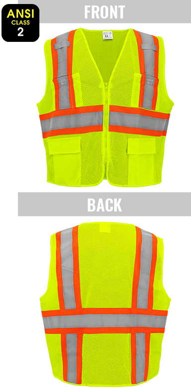 GLO-0035 - FrogWear® HV - Lightweight Mesh Surveyor's Safety Vest