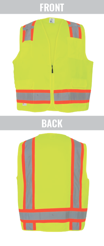 GLO-0039 - FrogWear® HV - High-Visibility Polyester Surveyors Safety Vest - Limited Stock