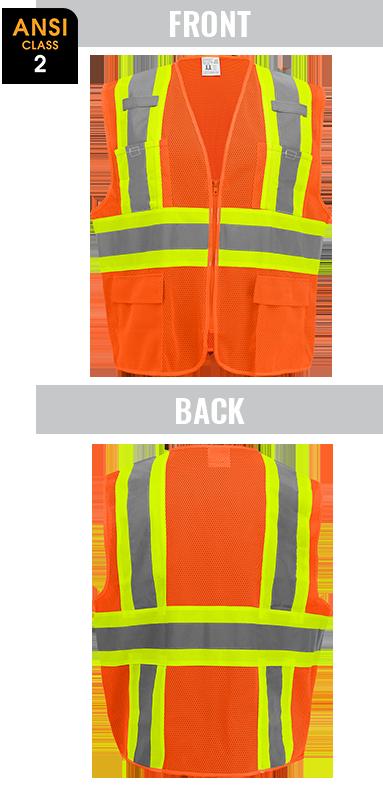 GLO-0045 - FrogWear® Lightweight Mesh Class 2 Surveyor Vest