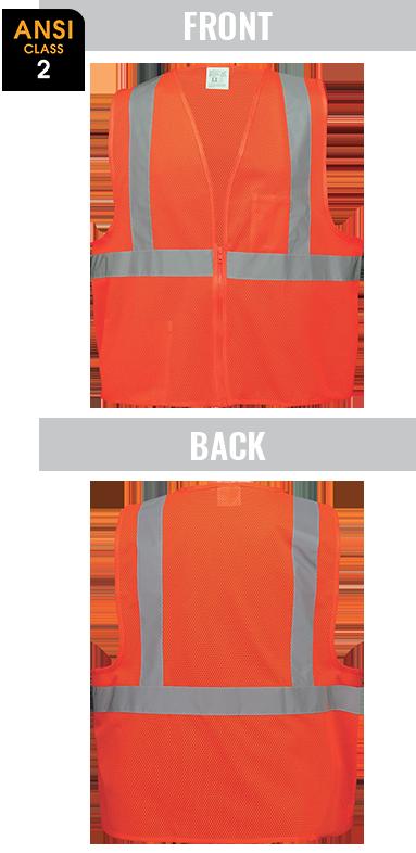 GLO-006 - FrogWear® HV - High-Visibility Lightweight Mesh Polyester Safety Vest
