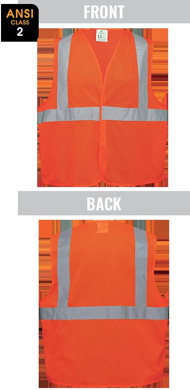 GLO-006V -FrogWear® HV - High-Visibility Lightweight Mesh Polyester Safety Vest
