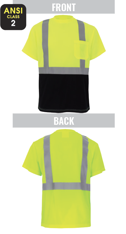 GLO-007B - FrogWear® HV - High-Visibility Self-Wicking Short Sleeved Shirt