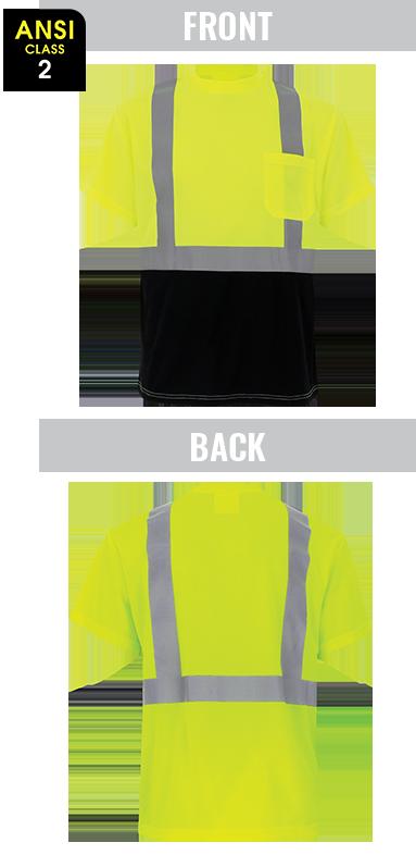 GLO-007B - FrogWear® HV - High-Visibility Self-Wicking Short Sleeved Shirt