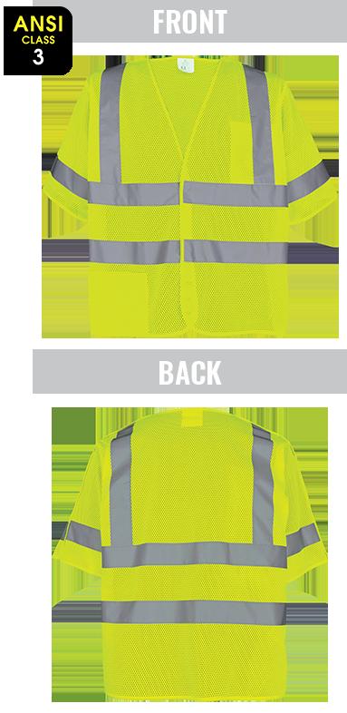 GLO-011BA - FrogWear® HV - High-Visibility Lightweight Mesh Polyester Breakaway Vest