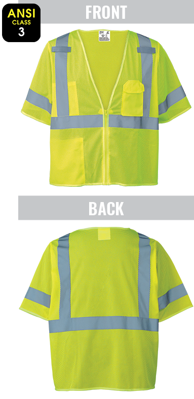 GLO-011FR - FrogWear® HV - Self-Extinguishing High-Visibility Short Sleeve Vest