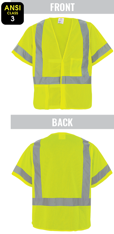 GLO-11V - FrogWear® HV - High-Visibility Mesh Polyester Short Sleeved Safety Vest