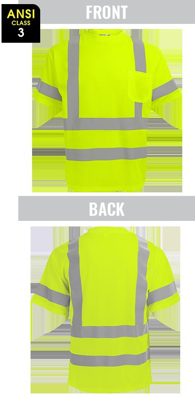 GLO-017 - FrogWear® HV - High-Visibility Mesh Polyester Short Sleeved Shirt