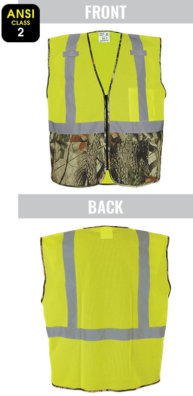 GLO-020 - FrogWear® HV – ANSI class 2 high-visibility yellow/green lightweight mesh safety vest