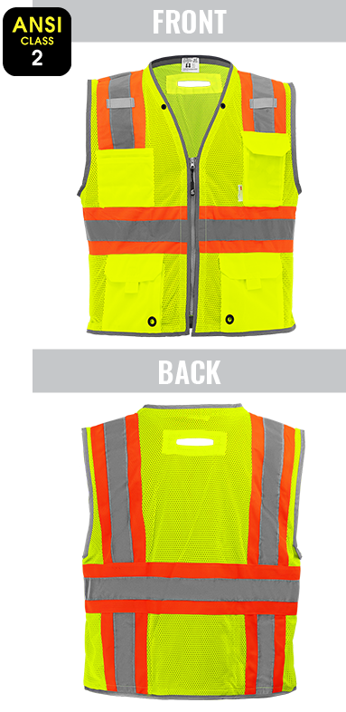 GLO-067 - FrogWear® HV - High-Visibility Mesh Polyester Surveyors Safety Vest