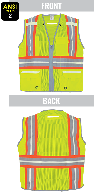 GLO-077 - FrogWear® HV - High-Visibility Photoluminescent Surveyors Safety Vest