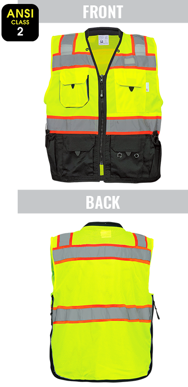 GLO-099 - FrogWear® HV - Premium High-Visibility Surveyors Safety Vest