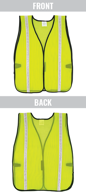 GLO-10-G-1IN - FrogWear® HV- Economy High-Visibility Mesh Safety Vest