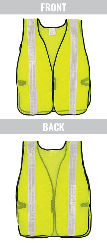 GLO-10-G-2IN - FrogWear® HV- Economy High-Visibility Mesh Safety Vest