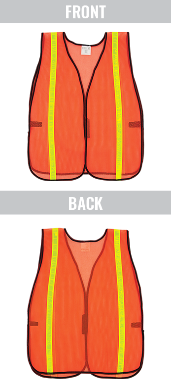GLO-10-O-1IN - FrogWear® HV- Economy High-Visibility Mesh Safety Vest