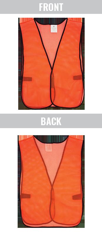 GLO-10-O - FrogWear® HV- Economy High-Visibility Mesh Safety Vest