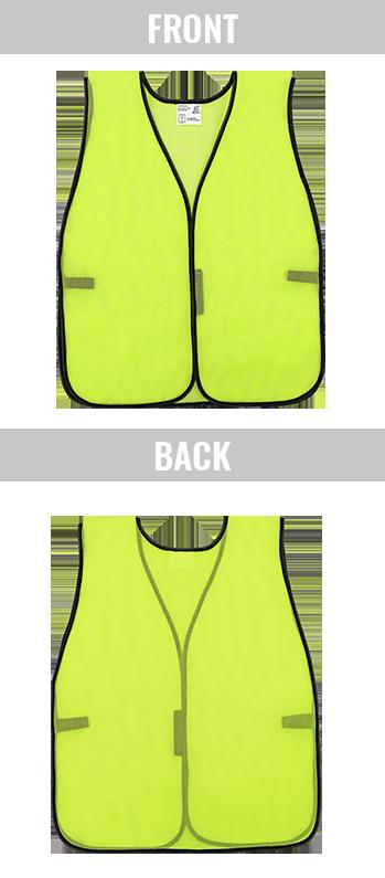 GLO-10-YG - FrogWear® HV High-Visibility Yellow/Green Economy Mesh Safety Vest