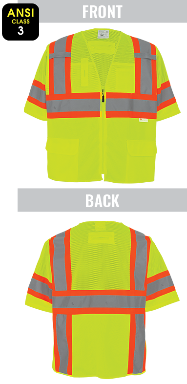 GLO-127 - FrogWear® HV - High-Visibility Polyester Surveyors Safety Vest