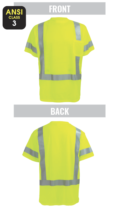 GLO-017 - FrogWear® HV - High-Visibility Mesh Polyester Short Sleeved Shirt