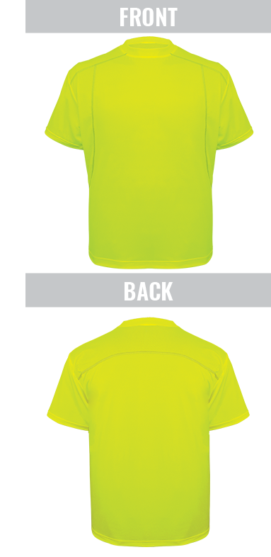 GLO-200 - FrogWear® HV - High-Visibility High Performance Stretch Athletic-Type Short Sleeved Shirt